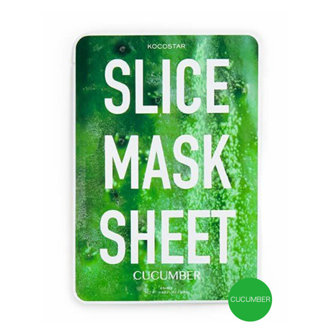 Slice mask sheet(5枚)/ココスター キュウリ